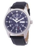 Seiko 5 Sports Automatic Ratio Black Leather SNZG11K1-LS10 Men's Watch