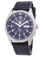 Seiko 5 Sports Automatic Ratio Black Leather SNZG11K1-LS8 Men's Watch