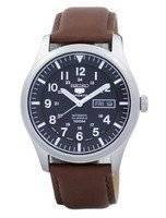 Seiko 5 Sports Automatic Japan Made Ratio Brown Leather SNZG15J1-LS12 Men's Watch