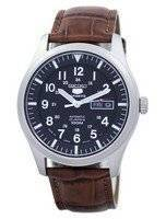 Seiko 5 Sports Automatic Japan Made Ratio Brown Leather SNZG15J1-LS7 Men's Watch