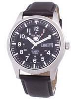Seiko 5 Sports Automatic Ratio Dark Brown Leather SNZG15K1-LS11 Men's Watch