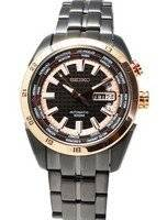 Seiko Automatic World Timer SRP040K1 SRP040K SRP040 Limited Edition Superior Men's Watch