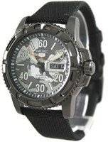 Seiko 5 Sports Automatic Black Nylon SRP225K2 Mens Watch