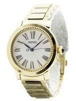 Seiko Quartz Gold Tone Cabochon Crown SRZ450 SRZ450P1 SRZ450P Women's Watch