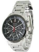 Seiko Chronograph Stainless Steel Black Ion SSB045P1 SSB045P Mens Watch