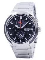 Seiko Sportura Solar World Time Chronograph SSC479 SSC479P1 SSC479P Men's Watch