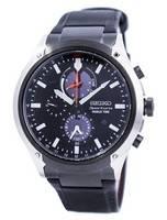 Seiko Sportura World Time Solar Chronograph SSC483 SSC483P1 SSC483P Men's Watch