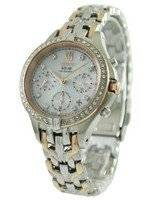 Seiko Core Solar Chronograph Swarovski Crystals SSC874P1 SSC874P Women's Watch