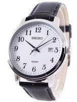 Seiko Quartz Leather Strap SUR113P1 SUR113P Men's Watch