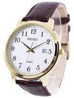 Seiko Quartz Leather Strap SUR114P1 SUR114P Men's Watch