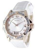 Seiko Quartz Crystals White Dial SUR800 SUR800P1 SUR800P Women's Watch