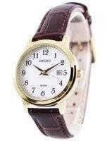 Seiko Quartz Leather Strap SUR822 SUR822P1 SUR822P Women's Watch