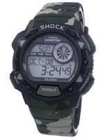Relógio Timex, expedição Base choque alarme Indiglo Digital T49976 masculino