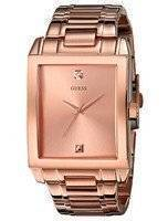 Guess Diamond Accent Rose Gold Stainless Steel Quartz U0102G2 Men's Watch