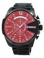 Remodelado o relógio Diesel Mega chefe black Ion Plated Brown Dial DZ4318 masculino