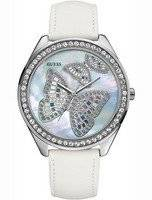 Guess Butterfly White Leather U95185L1 Women Watch