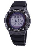 Casio Digital Tough Solar 5 Alarms Illuminator W-S200H-1BVDF Men's Watch