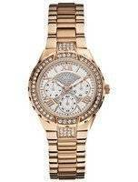Guess Viva Chronograph Multifunction Quartz Crystals W0111L3 Women's Watch