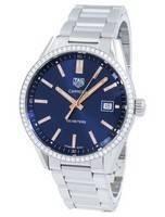 Tag Heuer Carrera quartzo diamante acentos WAR1114. BA0601 Relógio feminino