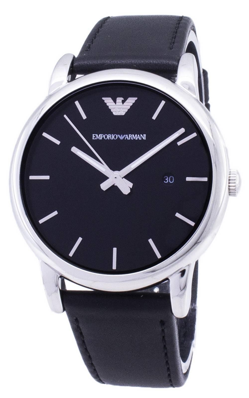 86ed6c760d7f Emporio Armani Classic Black Dial AR1692 Reloj de cuero negro para hombres