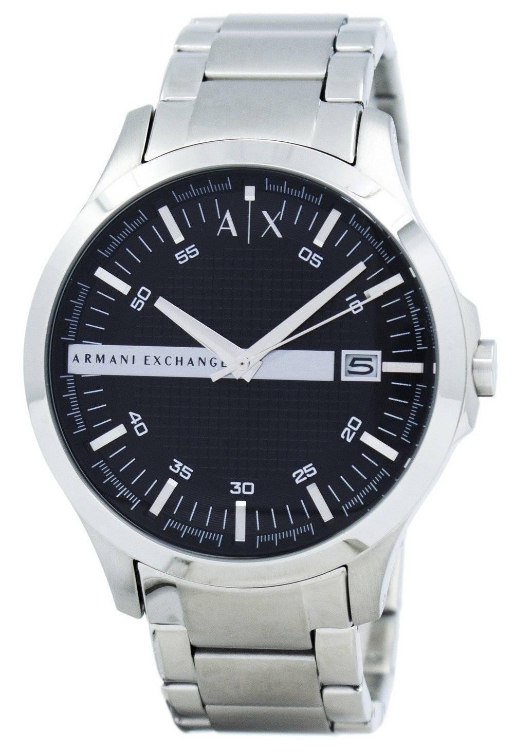 4062f278d42 Armani Exchange negro acero inoxidable AX2103 reloj de hombres