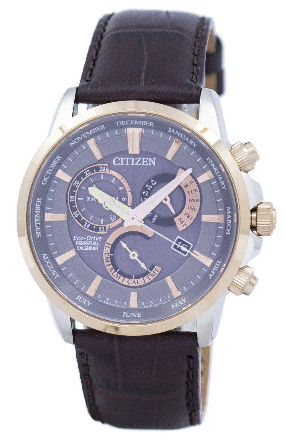 67baa711a1b Citizen Eco-Drive Chronograph Perpetual Calendar Alarm BL8148-11H Men s  Watch
