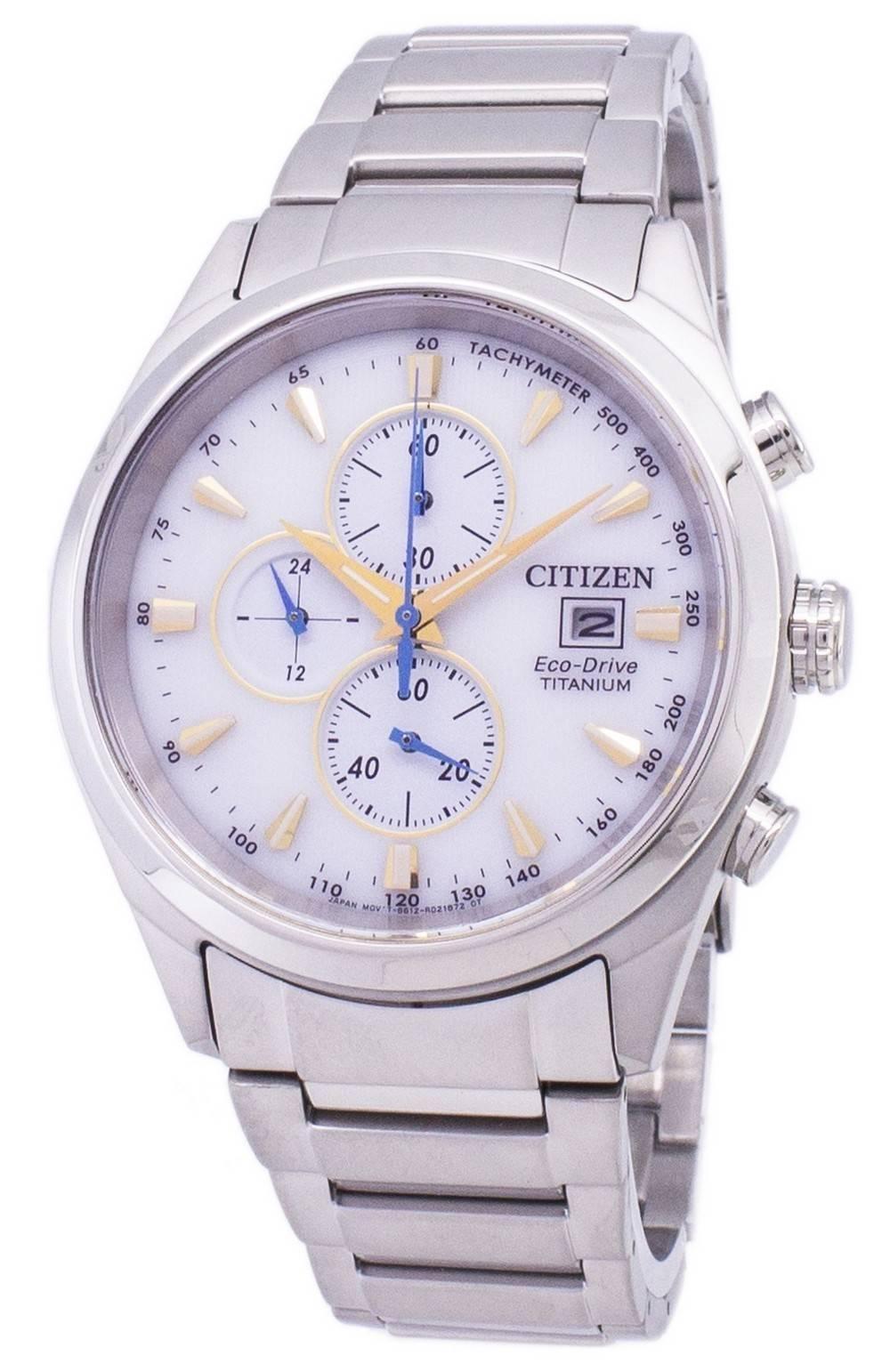 cb0a84f6675 Detalles acerca de Citizen Eco-drive Titanium Cronógrafo Taquímetro  CA0650-82B Reloj de hombre- mostrar título original