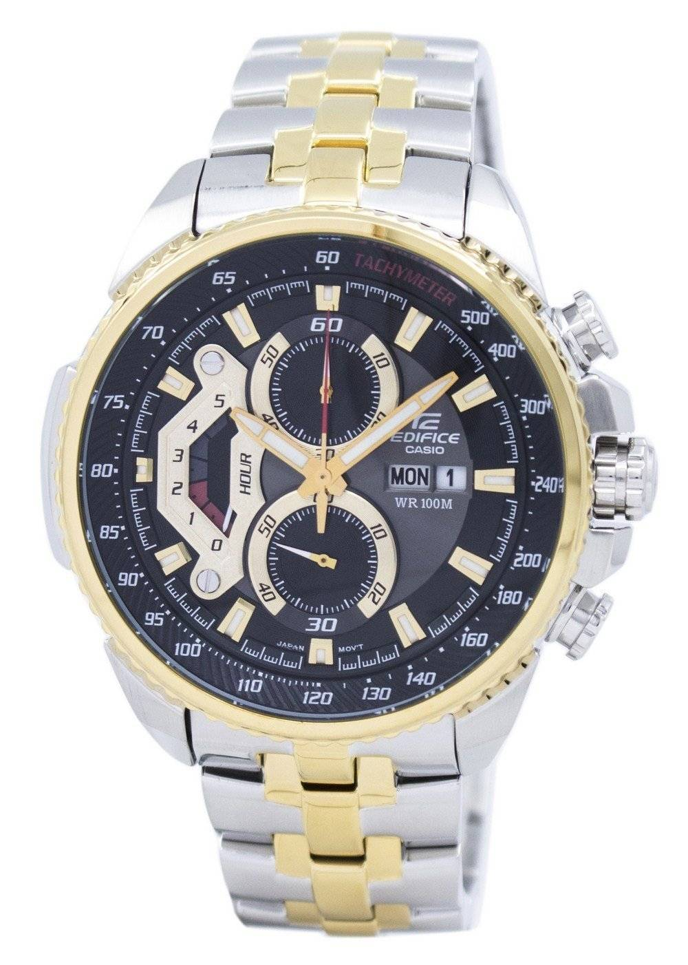 13886bb163b Details about Casio Edifice Chronograph Tachymeter EF-558SG-1AV Mens Watch