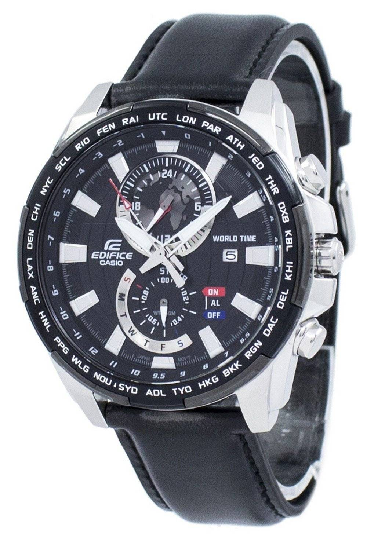d29088bc0628 Reloj Casio Edifice World Time Quartz EFR-550L-1AV EFR550L-1AV para hombre