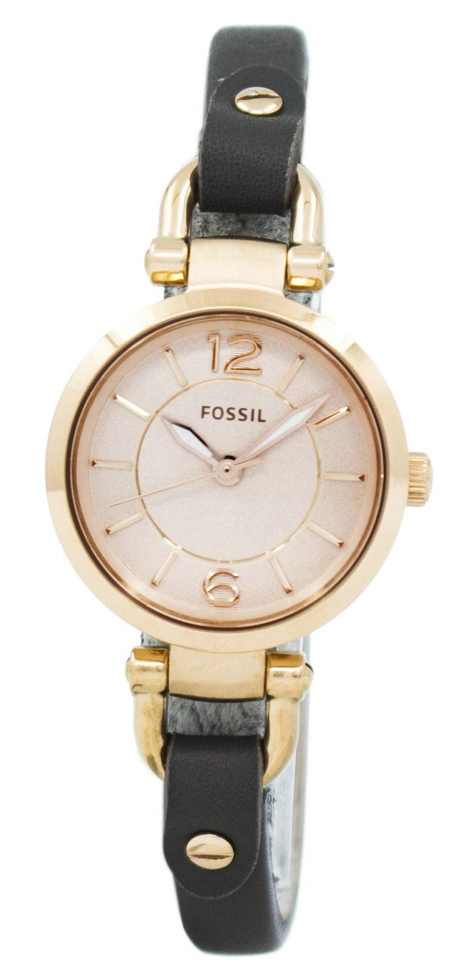 bb9309fee875 Details about Fossil Georgia Rose Dial Grey Leather ES3862 Womens Watch