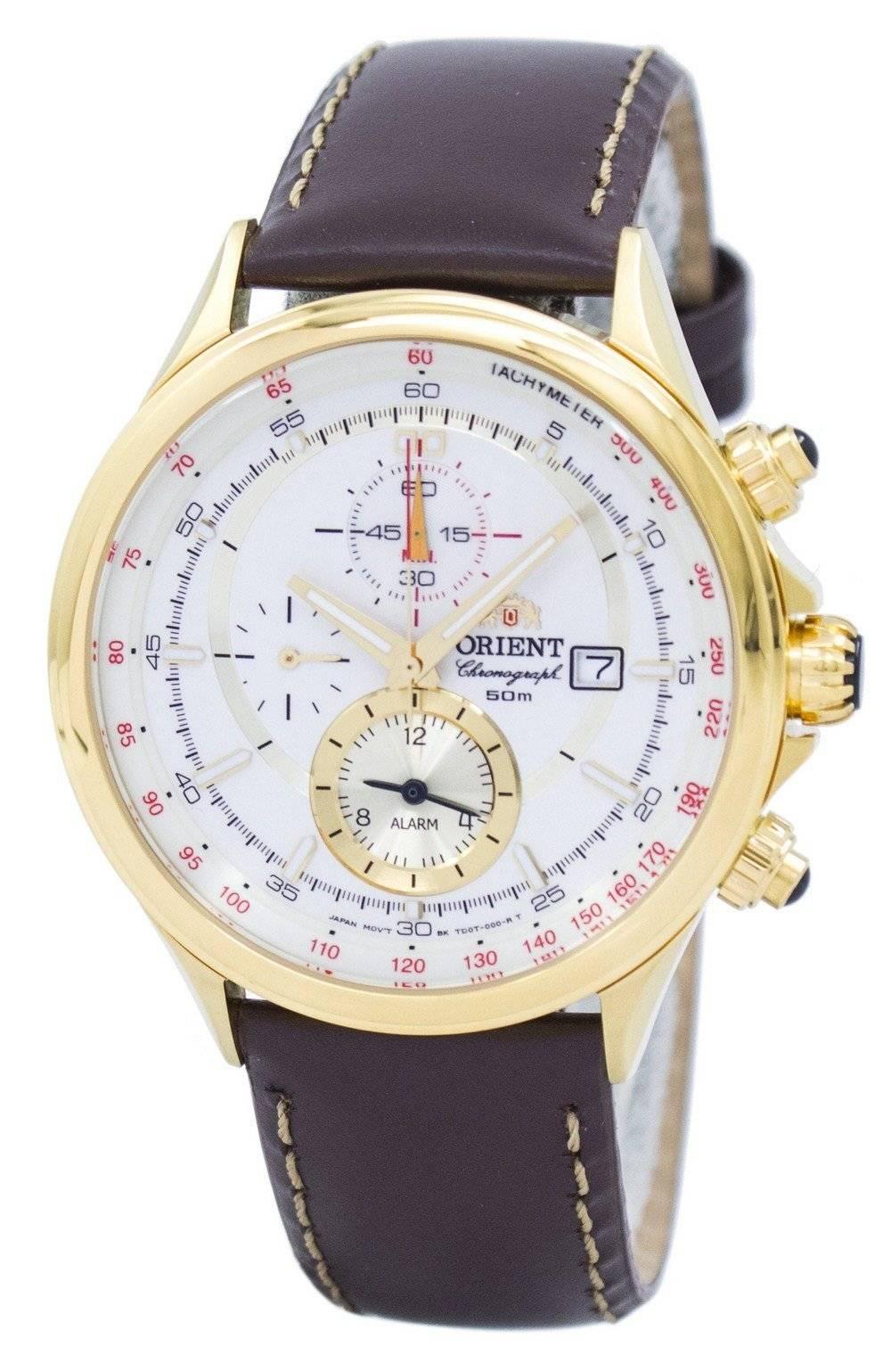 91e42dadabb Detalhes sobre Orient Chronograph Tachymeter Alarm Quartz FTD0T001N0 Mens  Watch