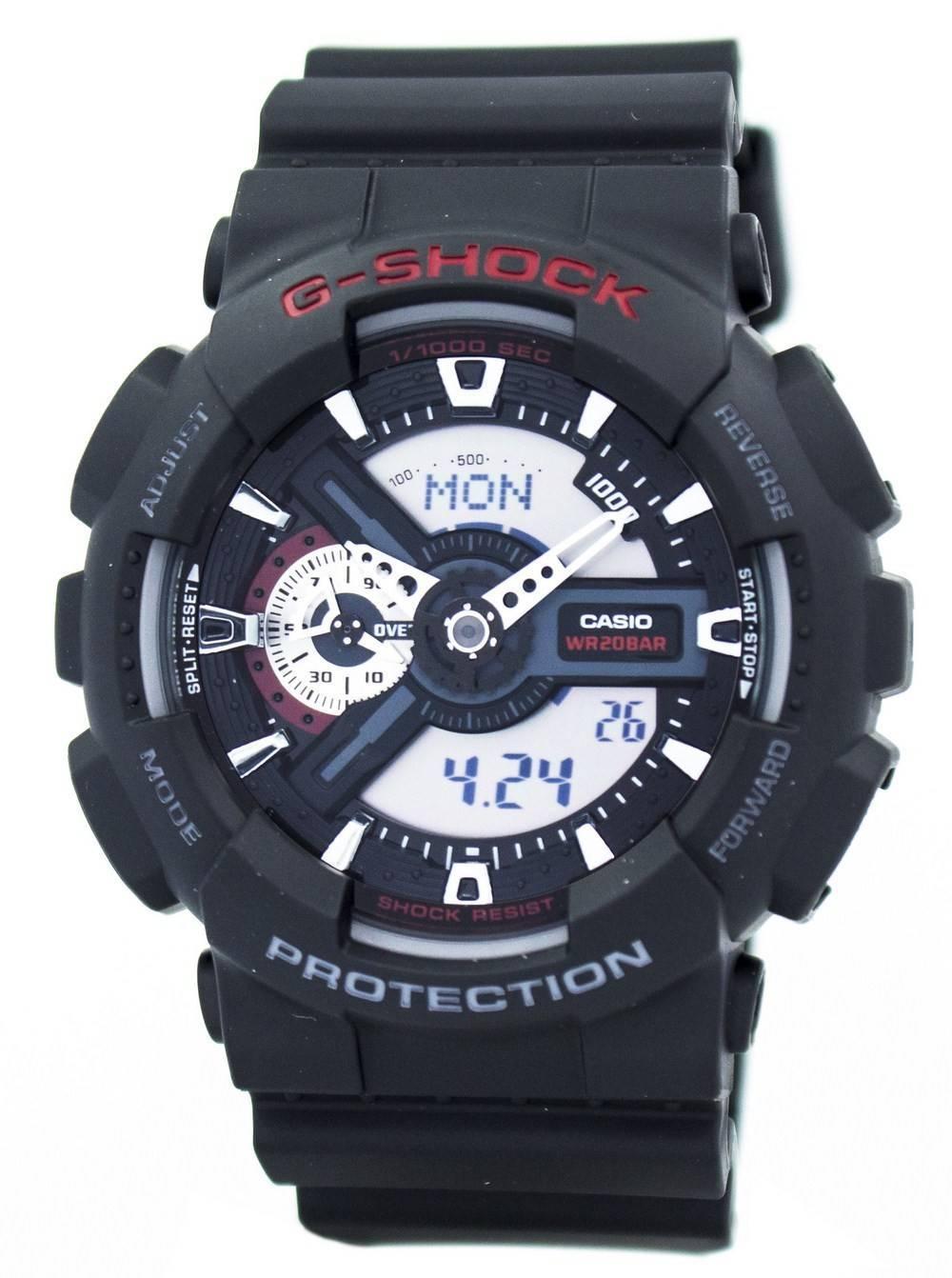 35954fb7b75 Details about Casio G-Shock World Time Analog Digital GA-110-1A GA110 Men s  Watch
