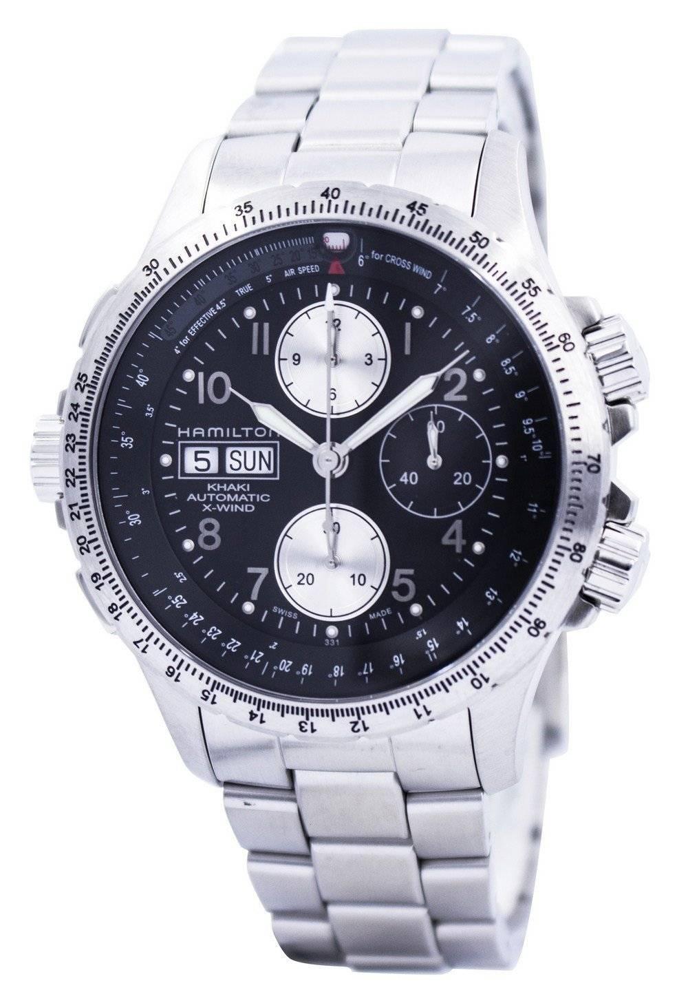 100% authentique 74471 f194f Hamilton Khaki X-Wind Automatic Chronograph H77616133 Mens Watch