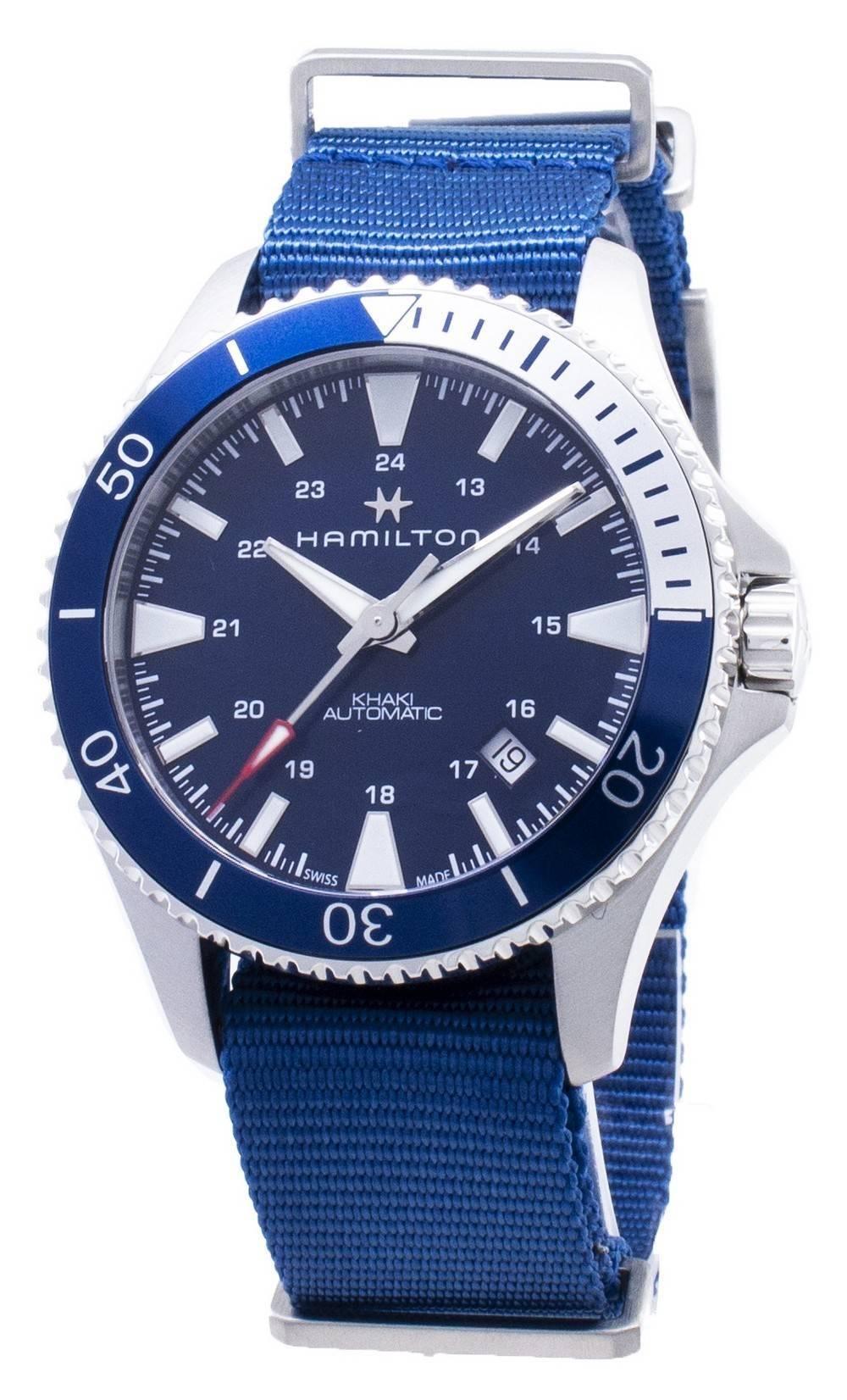 Navy Automático Analógico Scuba H82345941 Para Hamilton Reloj Hombre Khaki nvwN0O8m
