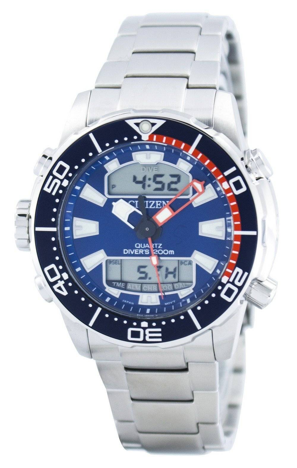 b096219d8db Citizen Aqualand Promaster Diver s 200M Analog Digital JP1099-81L Men s  Watch
