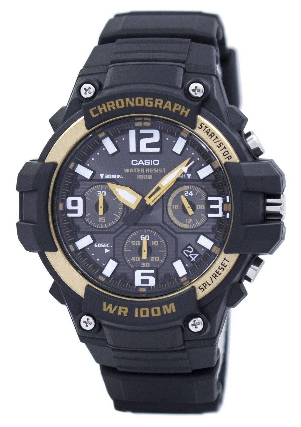 f0902a50b6 カシオ クロノグラフ アナログ MCW 100 H 9A2VDF MCW100H 9A2VDF メンズ腕時計 ja