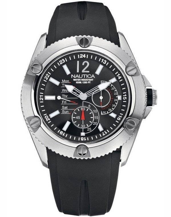 a8687f21cc49 Reloj Nautica NSR-04 negro N13540G para hombre es