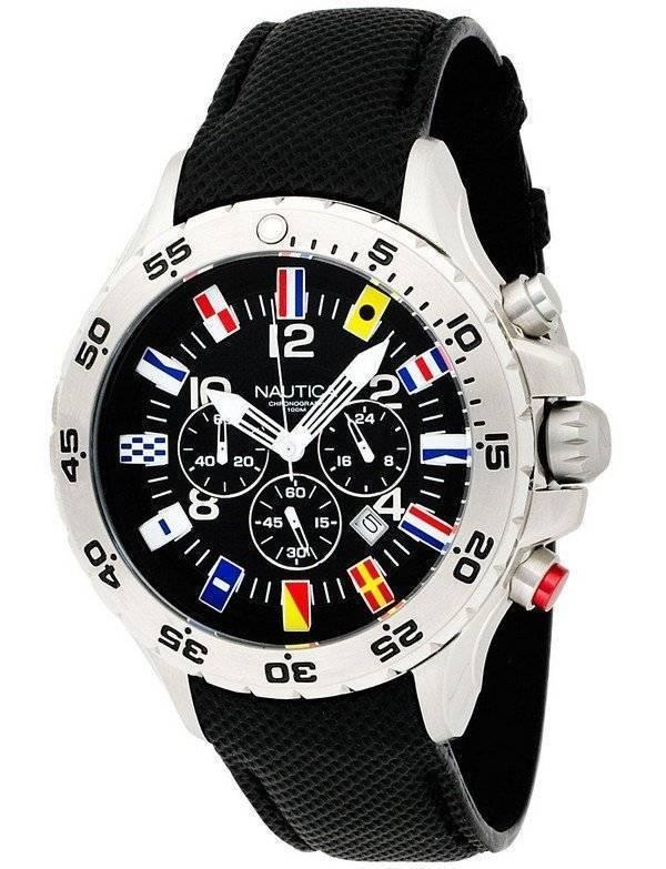 5e146966db2 Relógio Nautica NST bandeira cronógrafo N16553G masculino pt