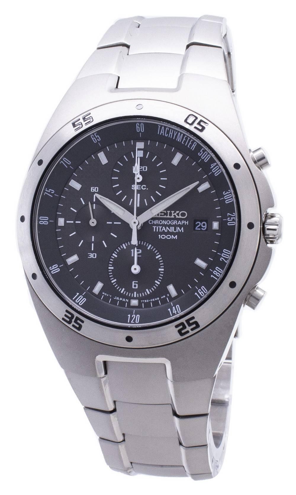 6513cd2db02 Seiko Titanium Chronograph SND419P1 SND419P SND419 Men s Watch ...
