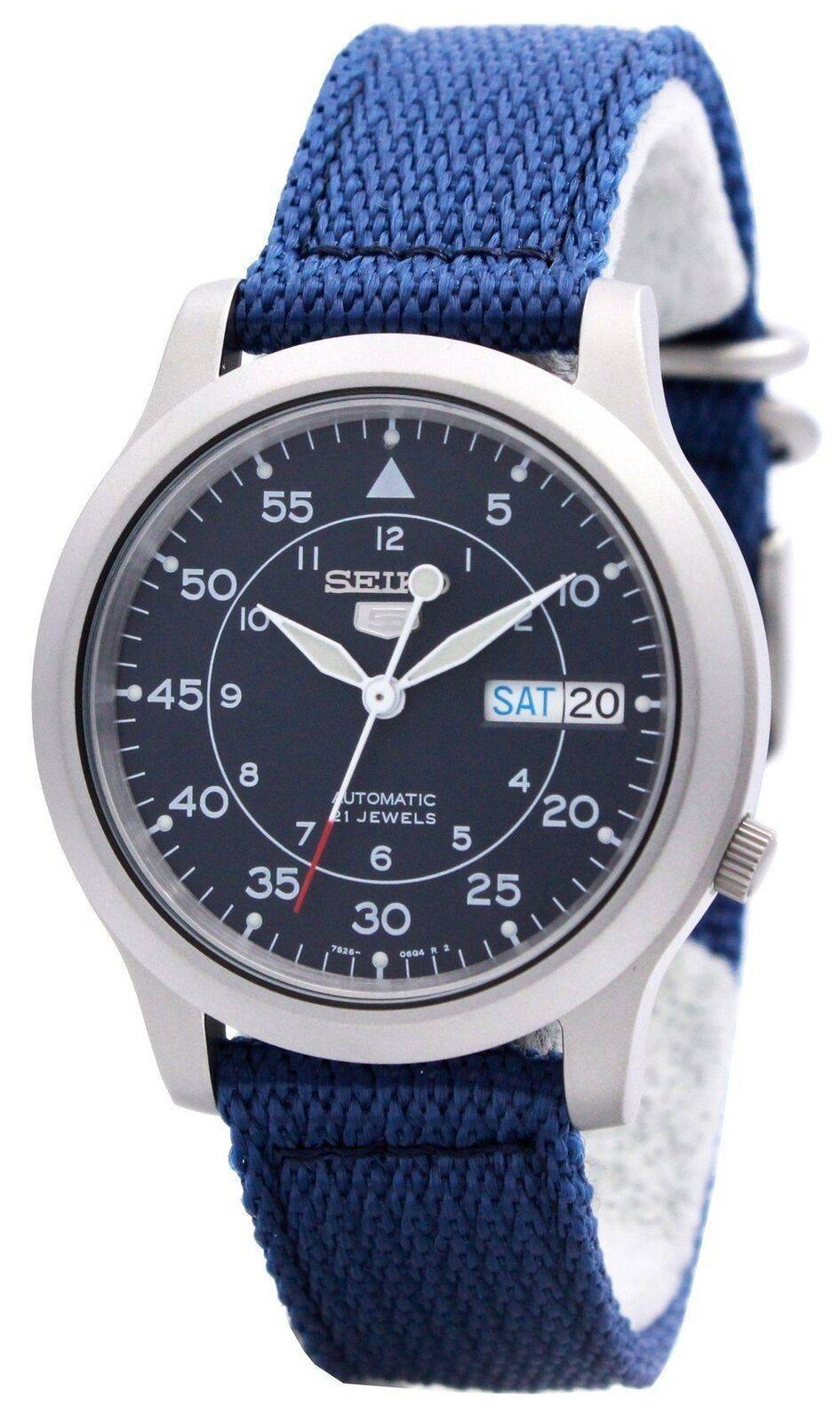 45c984766 Details about Seiko 5 Military Automatic Nylon Strap SNK807K2 Men's Watch