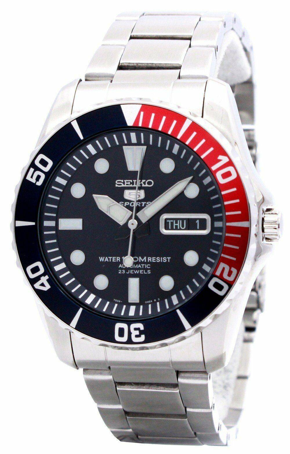 bee5096221a5 Detalles acerca de Seiko automático divers 23 joyas 100M Snzf 15K1 Snzf 15K  Hombre Reloj- mostrar título original