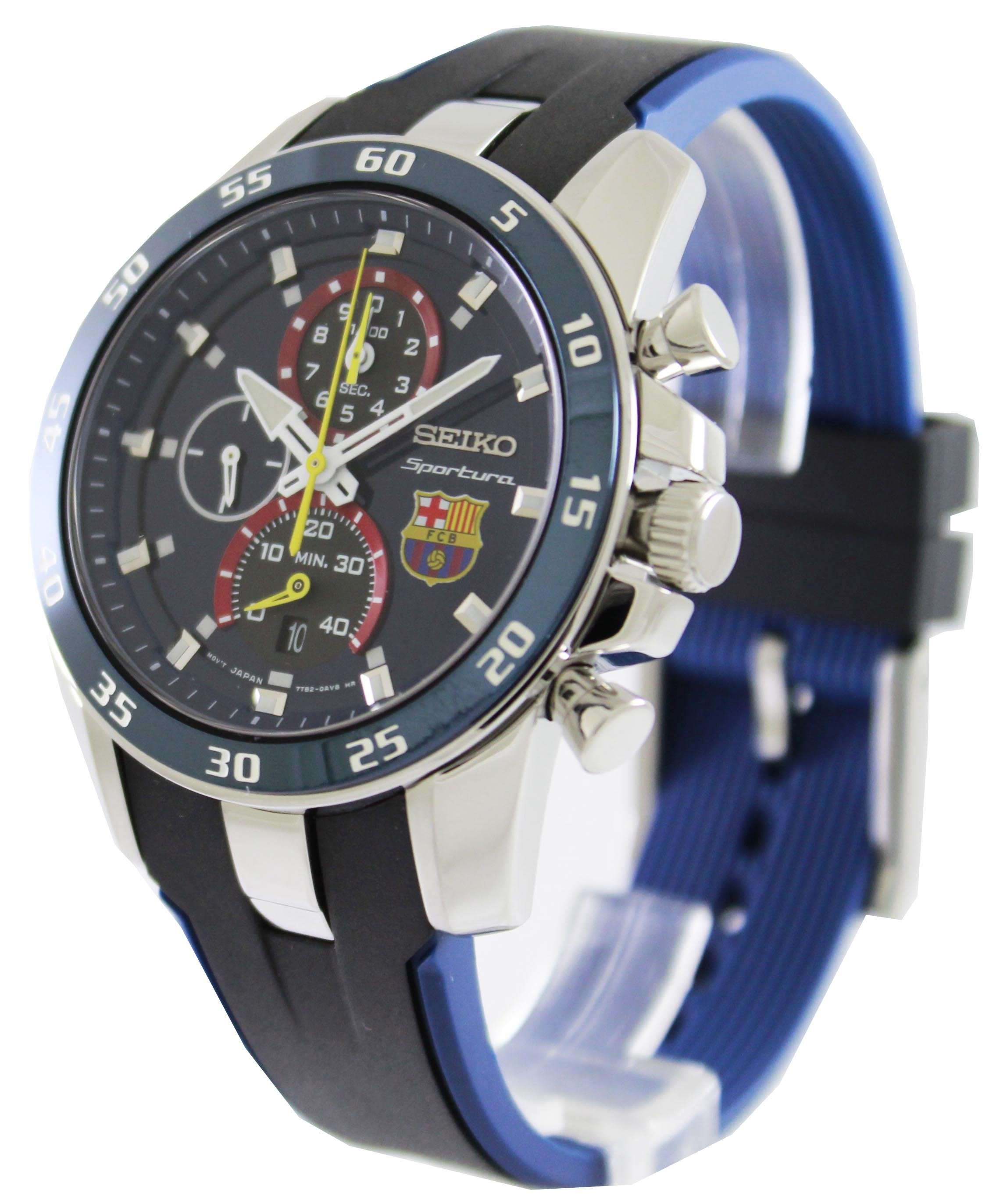 Seiko Sportura Snae79p1 Chronograph Black Leather Jam Tangan Pria Mens Skz285k1 Skz285 Stainless Automatic Snae75p1 Fc Barcelona Watch Features A 44mm Wide And 12mm Thick Solid