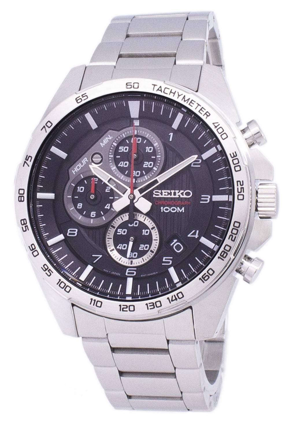 Details about Seiko Chronograph Tachymeter Quartz SSB319 SSB319P1 SSB319P  Mens Watch c7e50b2491ff