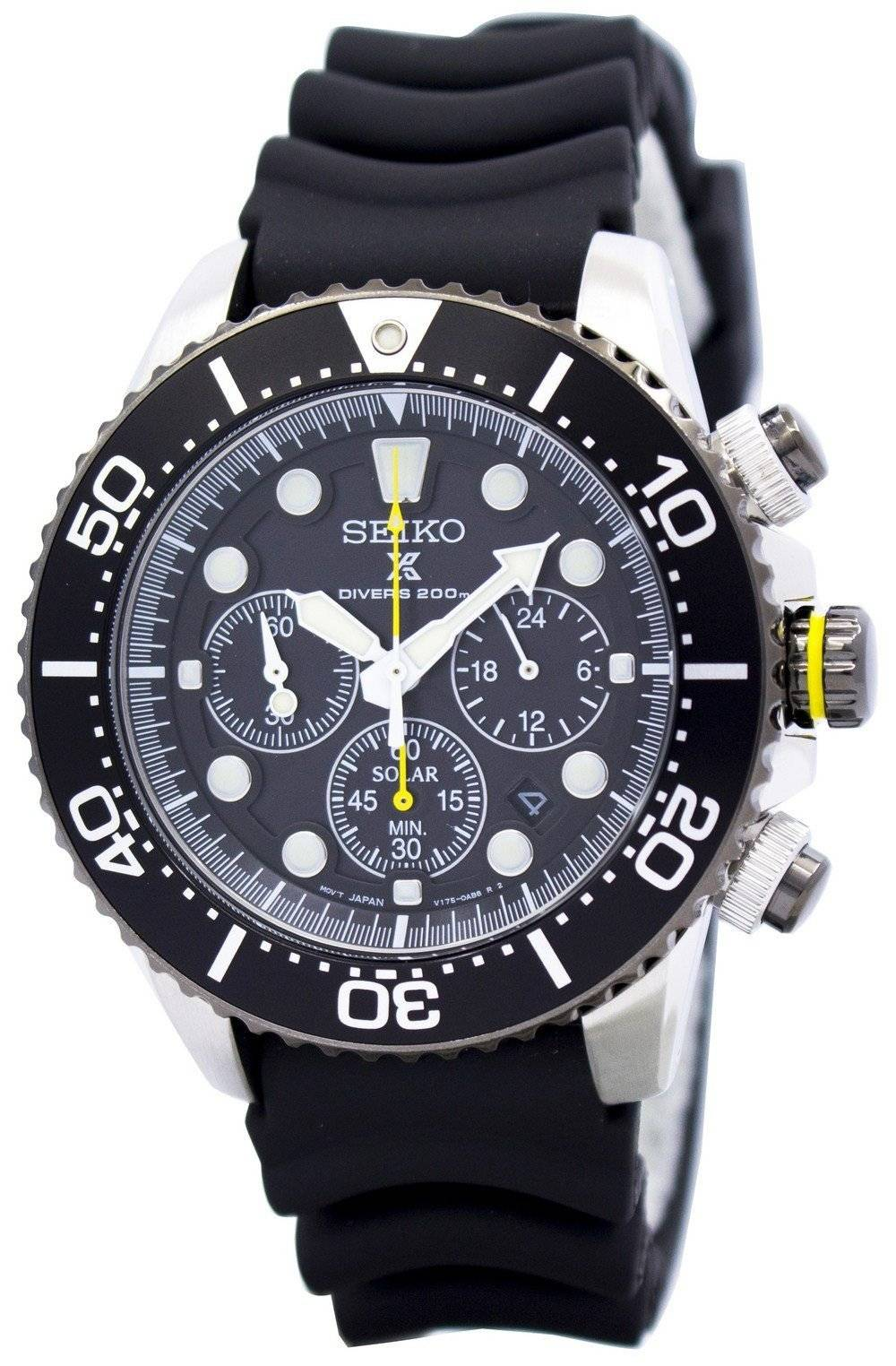 seiko solar chronograph ssc021 ssc021p1 ssc021p mens watch. Black Bedroom Furniture Sets. Home Design Ideas