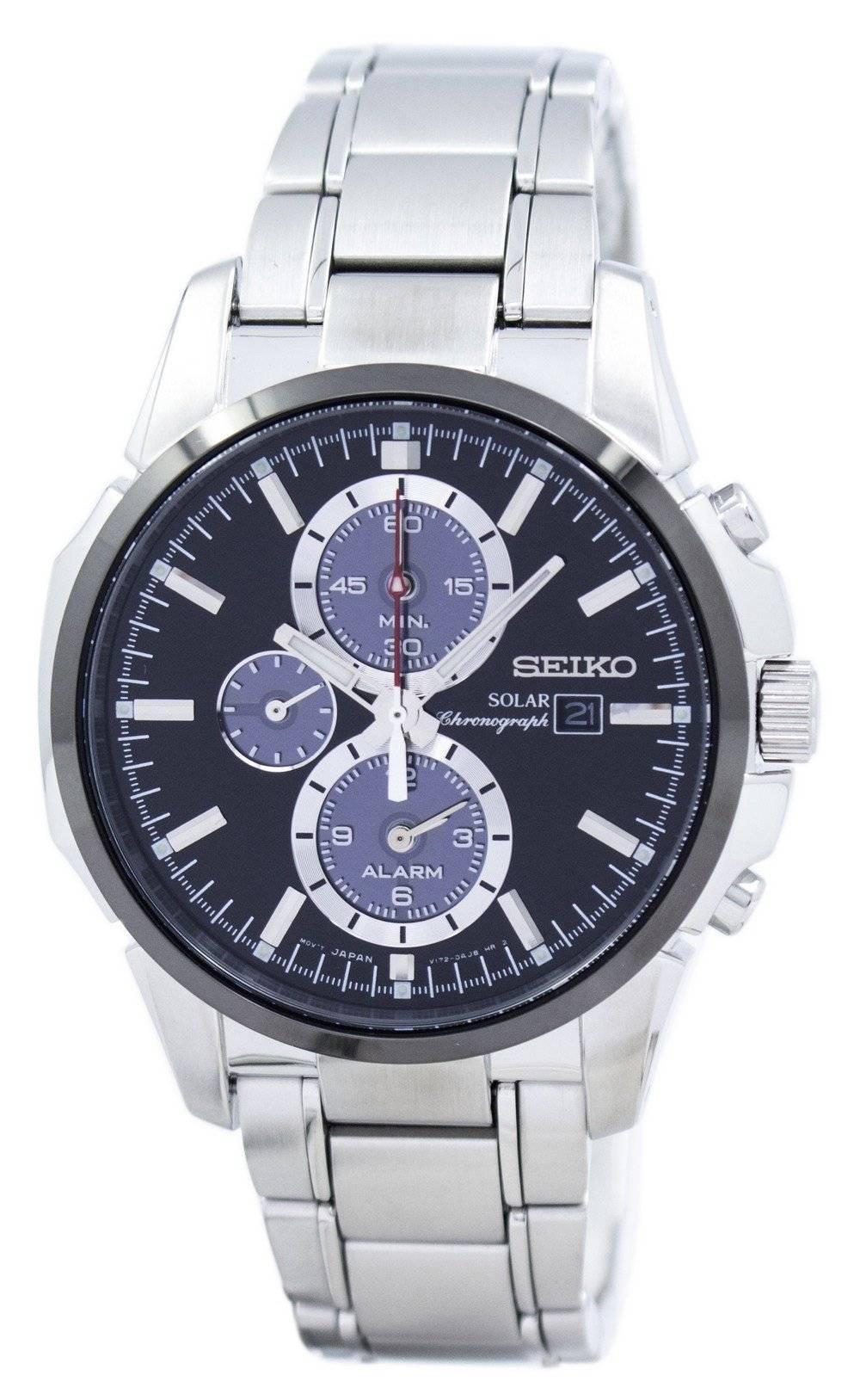 9a6128c0cdf Detalhes sobre Seiko Solar Alarm Chronograph SSC087P1 SSC087 SSC087P Men s  Watch
