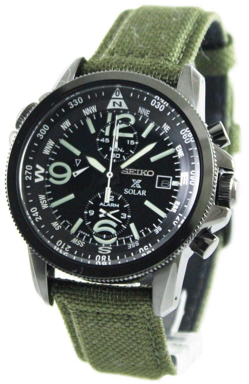 seiko prospex solar military alarm chronograph black dial ssc295p1 seiko prospex solar military alarm chronograph black dial ssc295p1 men 039 s watch