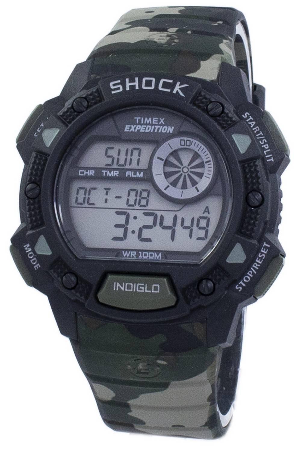 b53a9fba8f19 Reloj Timex Expedition Base choque alarma Indiglo Digital T49976 de los  hombres es