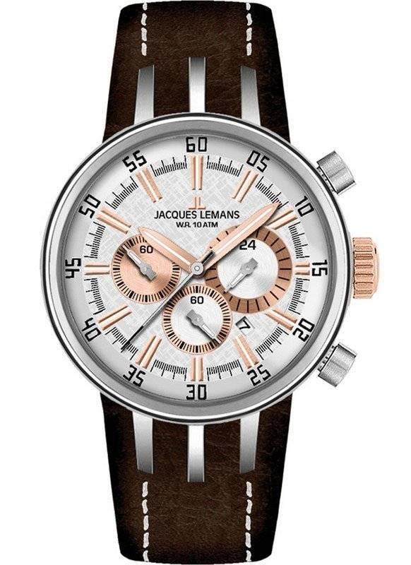 Jacques Lemans Chronograph 1-1518E Mens Watch - Click Image to Close