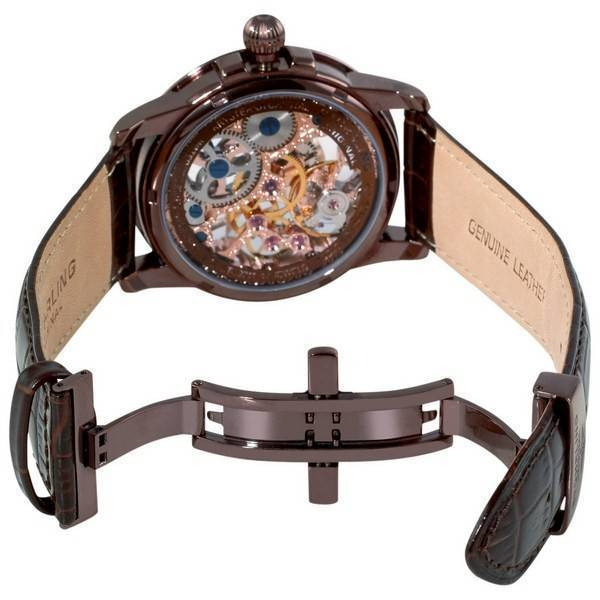 original bru a mechanical watch champagne dial 228 3365k77 stuhrling original bru a mechanical watch champagne dial 228 3365k77 men s watch