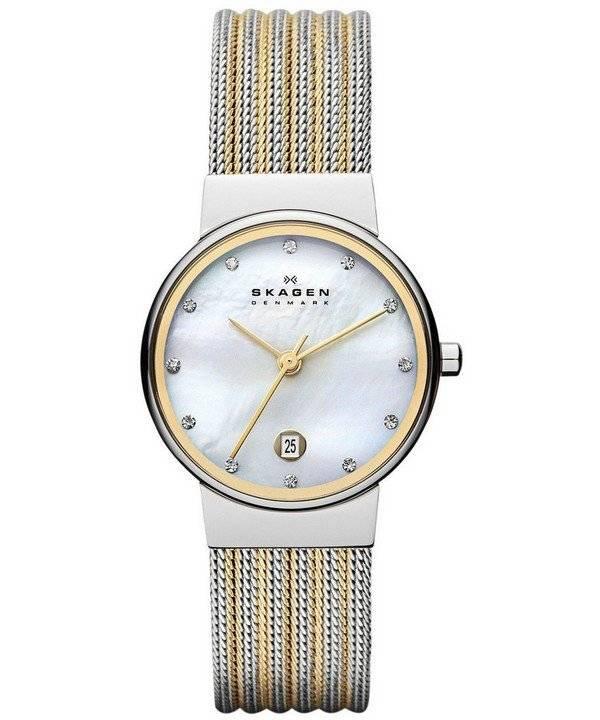 Skagen Ancher Quartz Diamond Accent 355SSGS Women's Watch - Click Image to Close